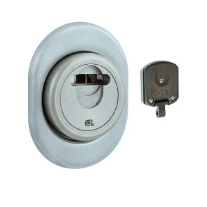 Протектор DISEC MAGNETIC 3GDM LEVER KEY OVAL 15 мм Хром матовый