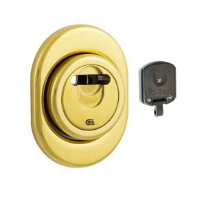 Протектор DISEC MAGNETIC 3GDM LEVER KEY OVAL 15 мм Латунь PVD